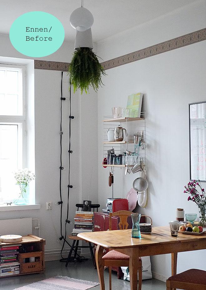 Uusi valaisin keittiössä!  A new lamp in the kitchen  COSY HOME