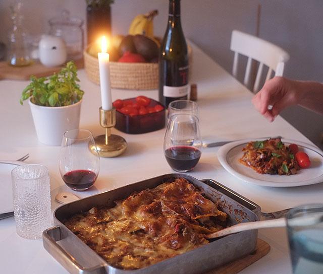 kasvislasagne-illallinen